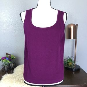 St. John Santana knit plum base layer camisole M